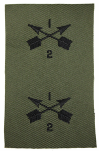 2nd Battalion 1st Special Forces Group pair of Subdued Patch