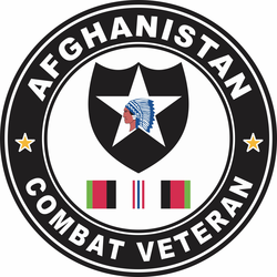 2nd Infantry Division Afghanistan Combat Veteran Decal