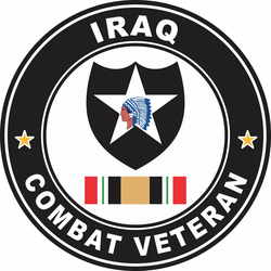 2nd Infantry Division Iraq Combat Veteran Decal