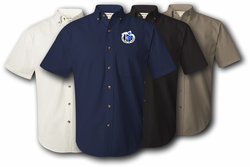 2nd Infantry Division Unit Crest Twill Button Down Shirt