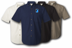 319th Mil Intelligence Brigade Twill Button Down Shirt