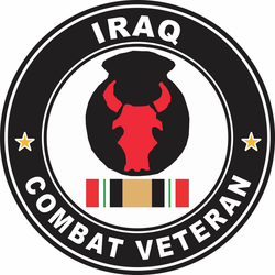 34th Infantry Division Iraq Combat Veteran Decal
