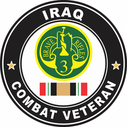 3rd Armored Cavalry Regiment Iraq Combat Veteran Decal
