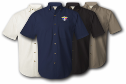 4th Armored Division Unit Crest Twill Button Down Shirt