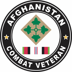 4th Infantry Division Afghanistan Combat Veteran Decal