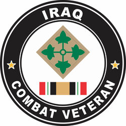 4th Infantry Division Iraq Combat Veteran Decal