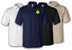 4th Infantry Division Unit Crest Polo Shirt