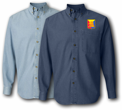 50th Armored Division Unit Crest Denim Shirt