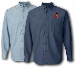 52nd Air Defense Artil Bat Denim Shirt