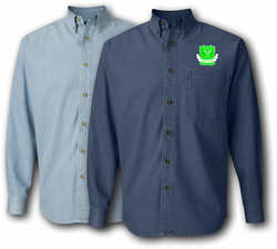 5th Armored Division Unit Crest Denim Shirt