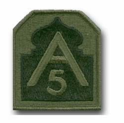 5th Army Subdued Military Patch