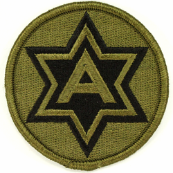 6th Army Subdued 2.75 Inch Patch