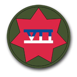 "7th Army Corps 3.8"" Patch Vinyl Transfer Decal"