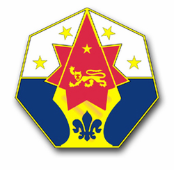 """7th Army Corps Unit Crest 11.75"""" Vinyl Transfer Decal"""
