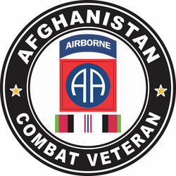 82nd Airborne Division Afghanistan Combat Veteran Decal
