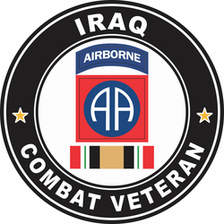 82nd Airborne Division Iraq Combat Veteran Decal