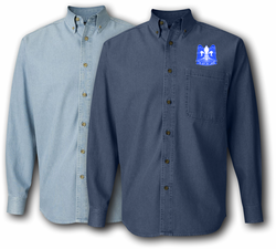82nd Airborne Division Unit Crest Denim Shirt