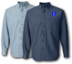 8th Infantry Division Denim Shirt