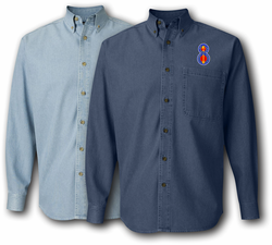 8th Infantry Division Unit Crest Denim Shirt