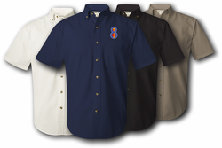 8th Infantry Division Unit Crest Twill Button Down Shirt