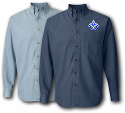 92nd Infantry Division Unit Crest Denim Shirt