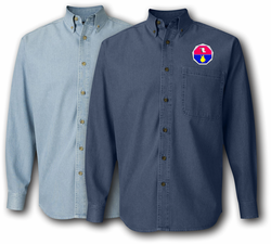 98th Training Division Unit Crest Denim Shirt