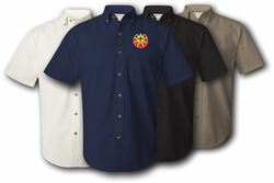 9th Infantry Division Unit Crest Twill Button Down Shirt