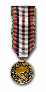 Afghanistan Campaign Military Mini Medal