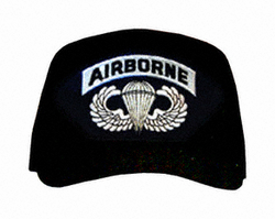 Airborne With Jump Wings Logo Ball Cap