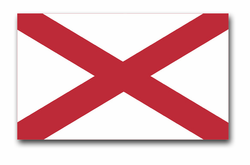 "Alabama State Flag 3.8"" Vinyl Transfer Decal"
