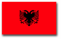Albania Flag Vinyl Transfer Decal