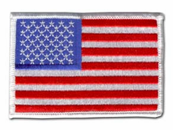 "American Flag 3 3/8"" x 2 3/16"" Shoulder Patch"