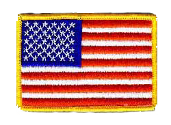 "American Flag 5"" x 3"" Jacket Patch"
