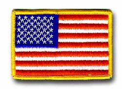 "American Flag  9 7/8"" x 6 3/4"" Jacket Patch"