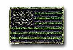 "American Flag Olive Drab 3 1/2"" x 2 3/8"" Shoulder Patch"