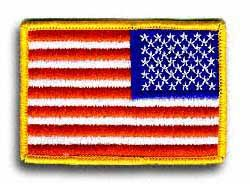 "American Flag (Reverse Field) 3 1/2"" x 2"" Shoulder Patch"