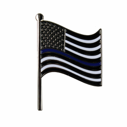 "American Flag ""Thin Blue Line"" Lapel Pin"