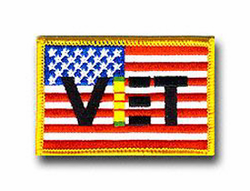 "American Flag w/ Viet 3"" x 2"" Shoulder Patch"