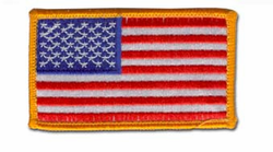 "American Flag with Velcro 3"" x 2"" Shoulder Patch"