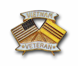 American Vietnam Crossed Flags Lapel Pin