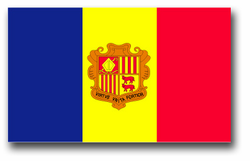 "Andorra Flag 8"" Vinyl Transfer Decal"