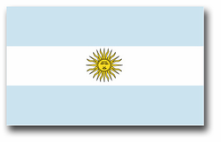 "Argentina Flag 3.8"" Vinyl Transfer Decal"