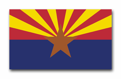 "Arizona State Flag 3.8"" Vinyl Transfer Decal"