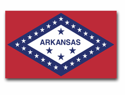 "Arkansas State Flag 3.8"" Vinyl Transfer Decal"