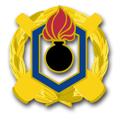 Armament and Chemical Command Unit Crest  Decal