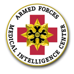 "Armed Forces Medical Intelligence Center Seal Patch 8"" Vinyl Transfer Decal"