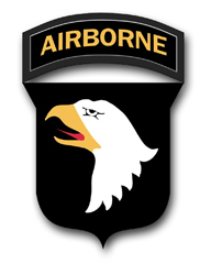 "Army 101st Airborne 3.8"" Patch Vinyl Transfer Decal"