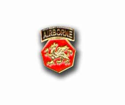Army 108th Airborne Division Military Pin
