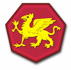 Army 108th Training Patch  Vinyl Transfer Decal