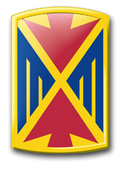 "Army 10th Air Defense Artillery Brigade 11.75"" Patch Decal"